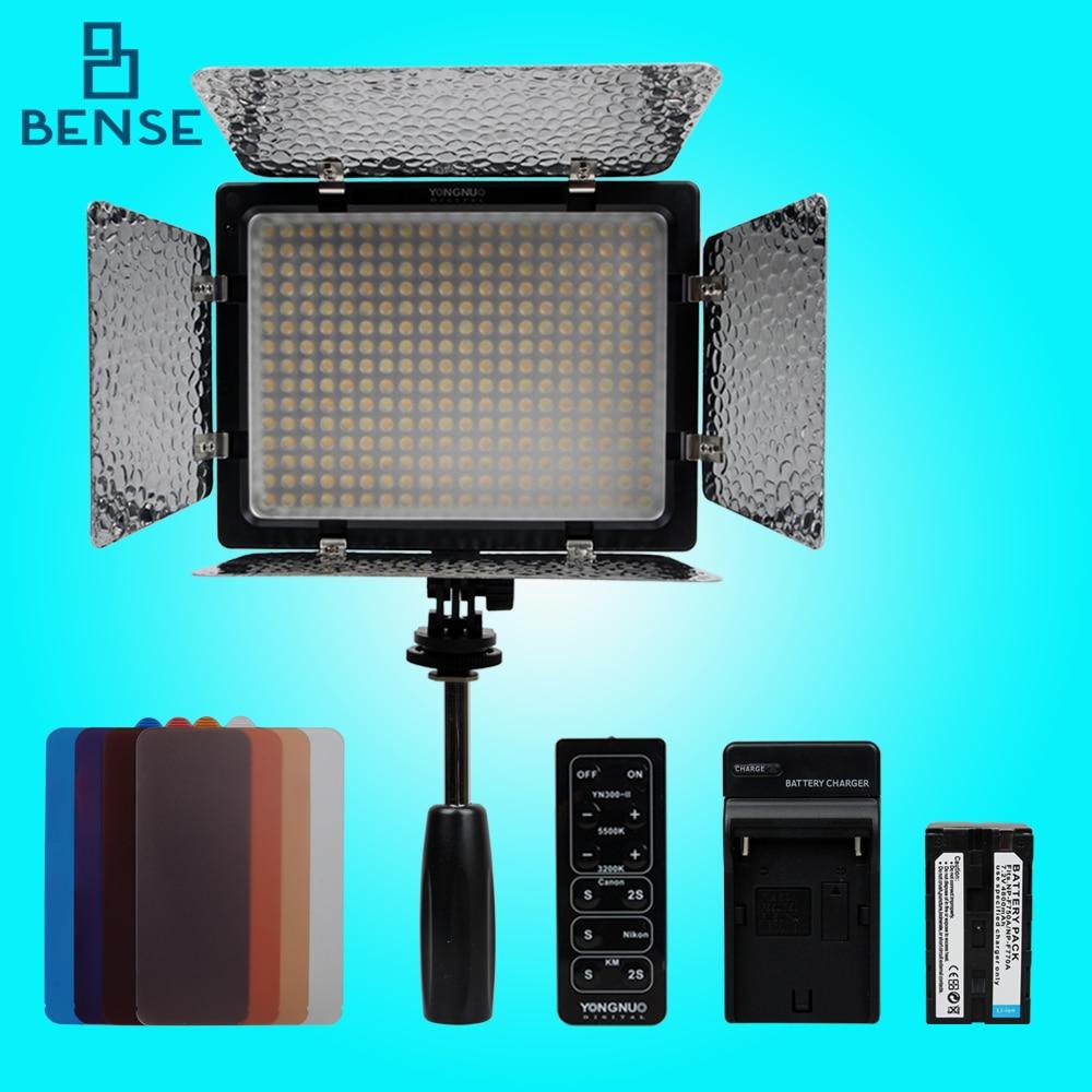 ФОТО Yongnuo YN-300 II LED Camera Video Light 3200-5500k+4800mAh NP-F750 Battery kit