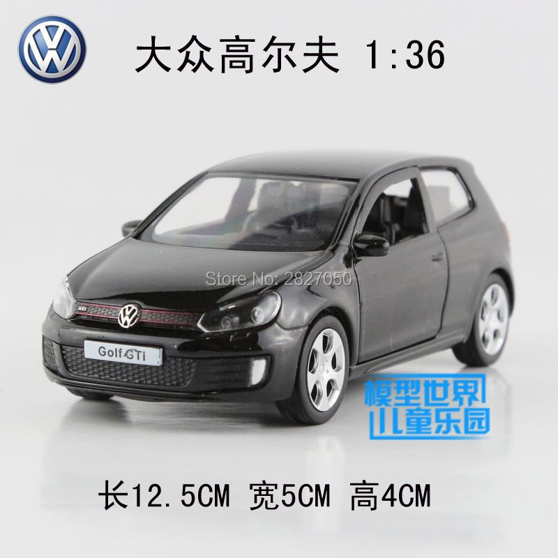 High Quality 1:36 Scale 5 Inch Alloy Diecast Car Model Golf GTI Collection Model Pull Back Car Toys Gift For Boys