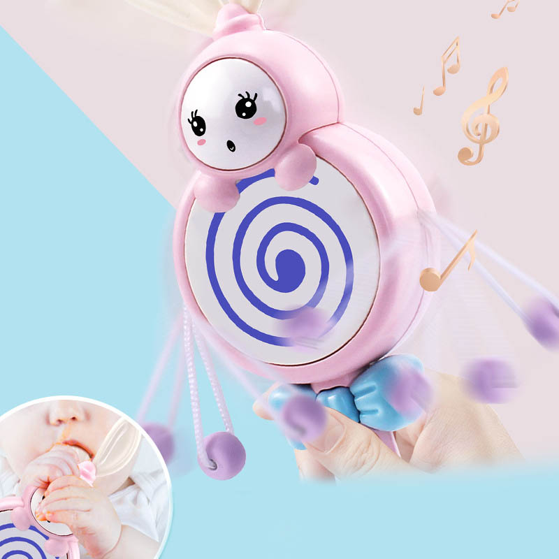Baby Toys Electronic Hand Rattle Musical Bell With Teether Handbell Development Toys For Infant FJ88
