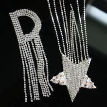 1 шт. Стразы, нашивки с вышитыми звездами и буквами для одежды, нашивки с вышитыми блестками для одежды, нашивки с аппликацией