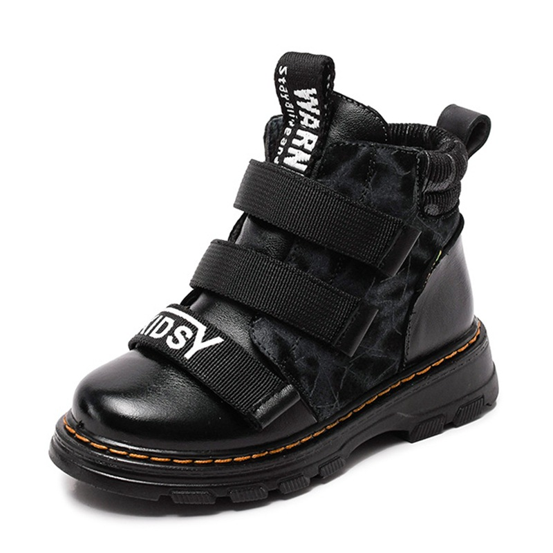 Image 3 - الشتاء الصبي أحذية الأطفال أحذية جديد الصبي جلد طبيعي موضة مارتن الأحذية طالب أحذية رياضية زائد المخملية الدافئة الاطفال الثلوج الأحذية-في أحذية برقبة طويلة من الأمهات والأطفال على AliExpress