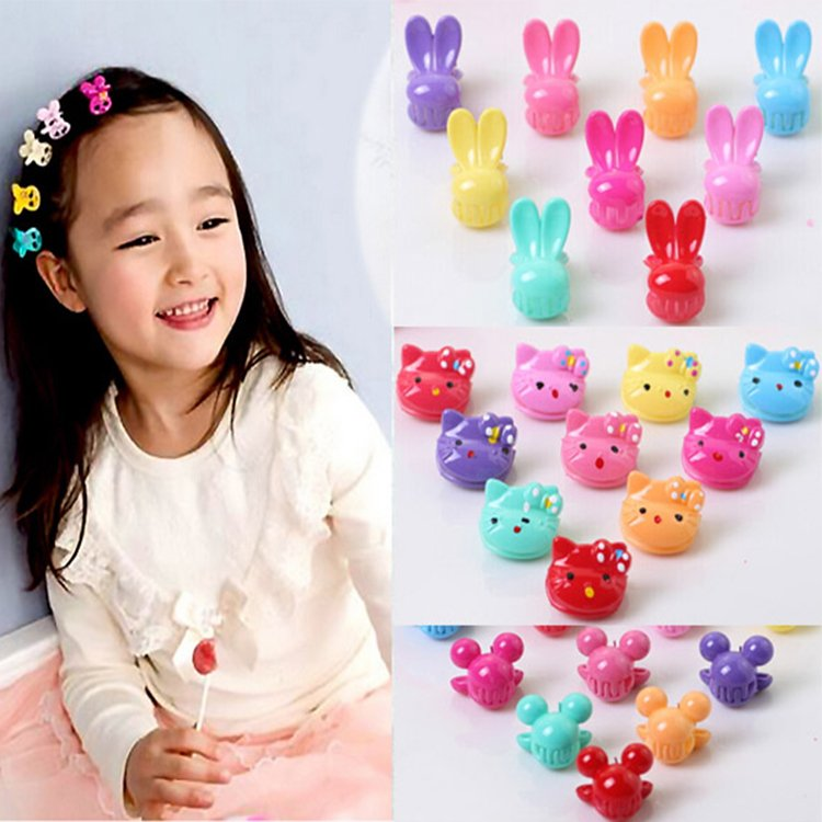 36pcs/Barrel Korea For Baby child cartoon mickey strawberry rabbit Hairpin hair Clips Bangs crab claw clip Accessories headwear 1pcs hair clip black claw clip crystal pearl plastics for women baby party festival rhinestone hairpin 2 sizes hair accessories