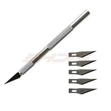 Ehdis металла скальпель Ножи Нескользящие резак гравировка Ножи для шашлыков Ручка 30 градусов Книги по искусству Ножи + 5 шт. лезвия DIY резка Инструменты Ремонт печатной платы