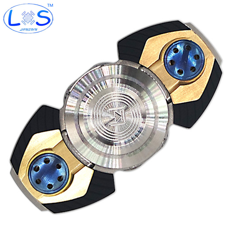 (LONSUN)3.0 /Hand Spinner High-quality Professional Toy Copper EDC Fidget Spinner For Autism and ADHD  Anti Stress Toys spinner fidget toy plastic edc hand spinner for autism and adhd rotation time long anti stress toys