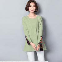 Femme 2018 Autumn Fashion Color Patchwork T Shirt Women Long Sleeves Tshirt O Neck Womens Clothing