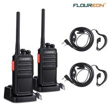 Floureon A5 16CH waklie рации безлицензионных PMR 446 МГц 2-передающая радиоустановка Перезаряжаемые Li-Ion Батарея 12 км переговорные ЕС