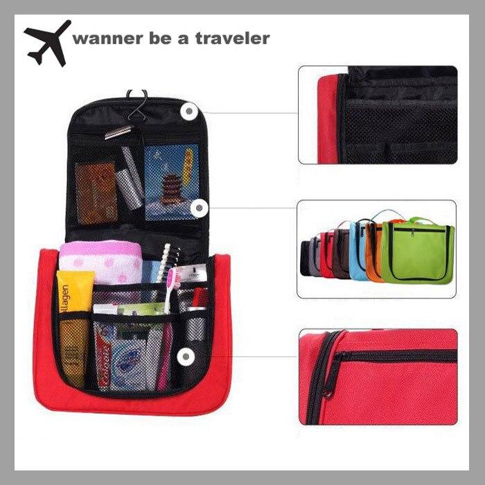 Fashion Lightweight  Toiletry  Women Men  Travel  Bag Cosmetic Make Up Storage Purse Zipper Organizer  Bag Wash Bag