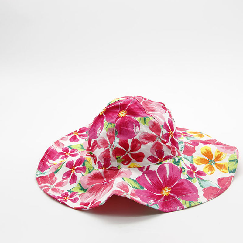 Flowers Childrens Bucket Hats Baby Fashion Cute Fishing Hat A Cap for A Girl Casual Outdoor Kids Sombrero Panama Children Caps