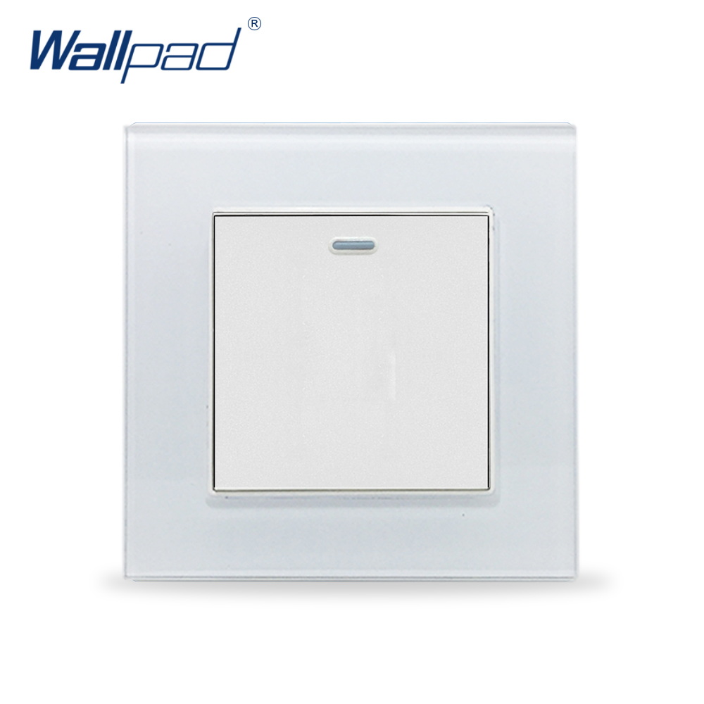 1 Gang 2 Way Wallpad Crystal Glass 110V-250V EU UK Standard Fluorescent 1 Gang 2 Way Corridor Push On Off Light Switch Button lediary led lighting switch stainless steel 1 gang 2 gang 3 gang 4 gang and 1 way 2 way push button wall switches 50v 440v