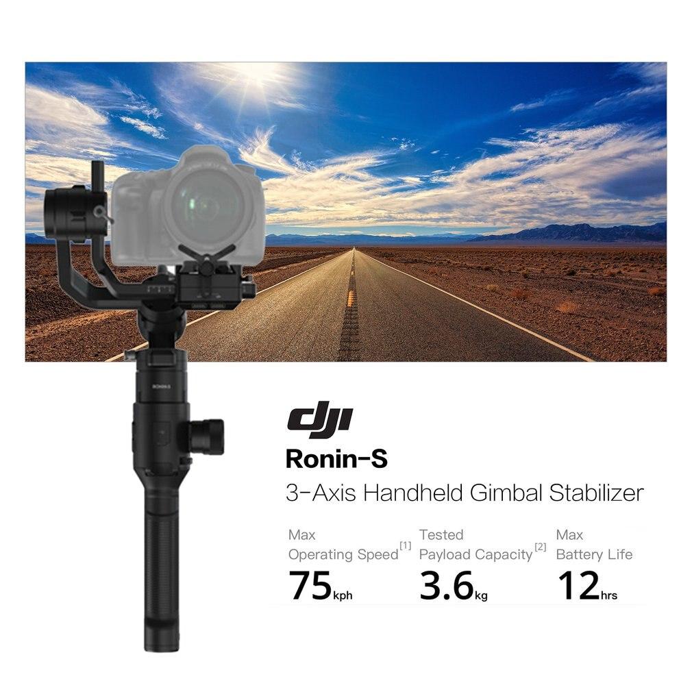 Original DJI Ronin S contrôle de caméra professionnel stabilisation 3 axes autonomie Max batterie 12 heures 3.6 kg capacité de charge utile livraison directe