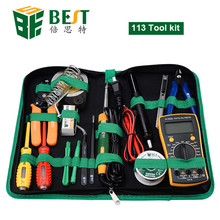16 in 1 Household Profession Multi-purpose Repair Tool Set With Soldering Iron D