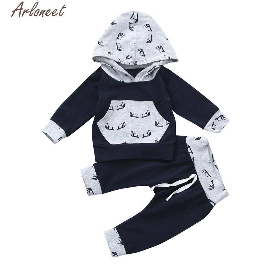 2pcs Toddler Baby Girl clothes Set Print roupas de bebe menino infant boy clothing Hoodie Tops+Pants Outfits l1206 infant baby boy girl 2pcs clothes set kids short sleeve you serious clark letters romper tops car print pants 2pcs outfit set