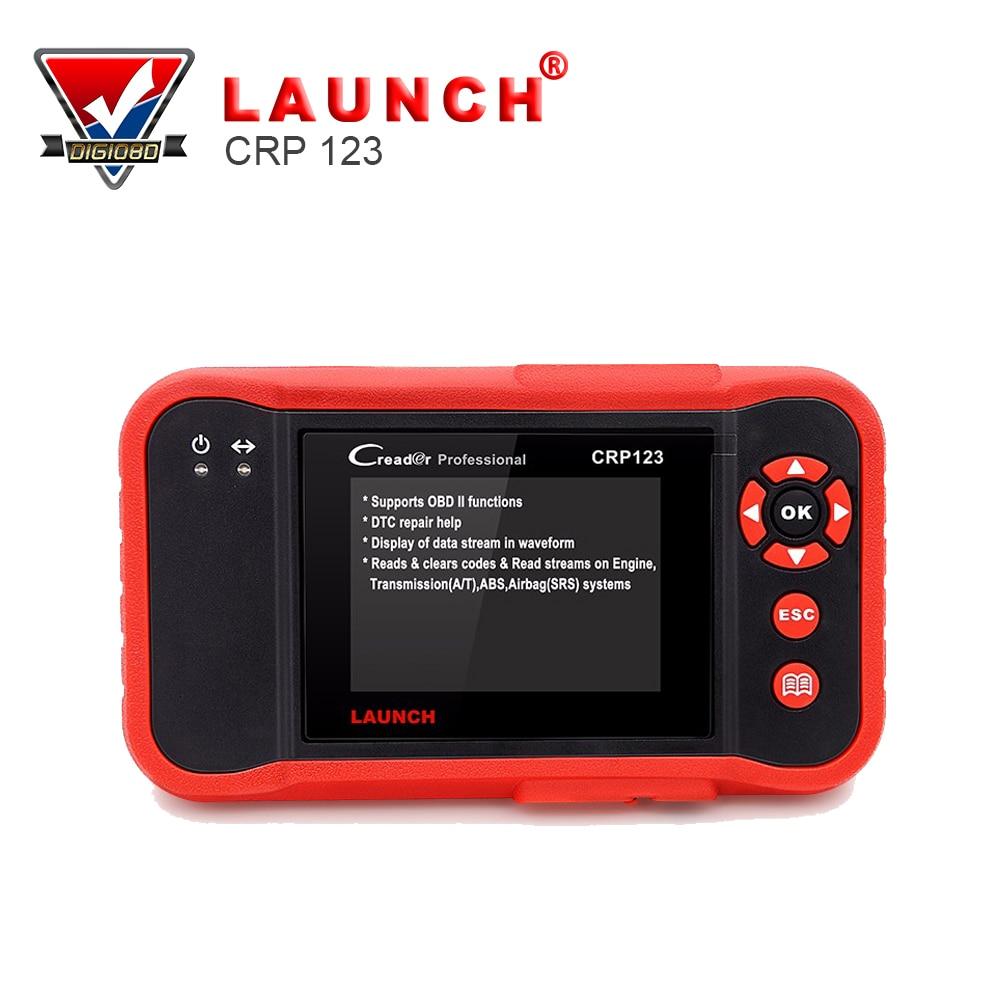 Цена за [Официальный дистрибьютор] Запуск CRP123 обновление онлайн Запуск X431Creader CRP123 ABS, SRS, Трансмиссии и Двигатели код сканер