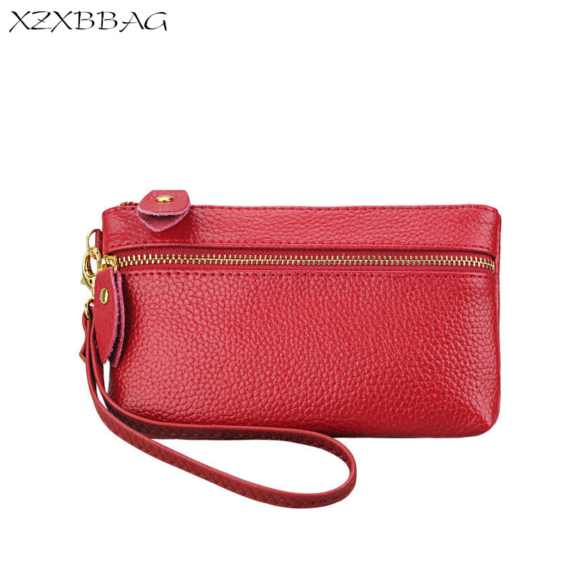 XZXBBAG Genuine Cowhide Coin Purse Women Casual Zipper Pouch Genuine Leather Female Change Purse Money Bag Handbag Zero Wallet цена
