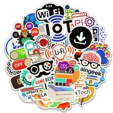 50Pcs Internet Java Sticker Geek Programmer Php Docker Html Bitcoin Cloud C++ Programming Language for Laptop Car DIY StickersF5