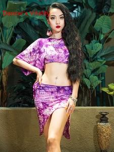 Image 5 - Prática Roupas de Dança do ventre Oriental Topo Saia com Cuecas Set Iniciante Primavera Verão Mulheres Sexy Desgaste da Dança Oriental