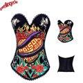 Секс женщины экзотический западный стиль геенну огненную бюстье талия корсет женское белье, застежка сзади paoson история любви дизайн партии корсет одежда