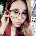 Coreano rebite grandes óculos de armação de Metal do Vintage 2927 de casais óculos do moderno mulheres homens óculos de armação