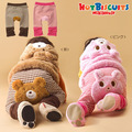 Pant Baby Boy Girl Autumn Winter Pant Animal Bear Rabbit PP Pant Baby Winter Trousers Plaid Pink Brown