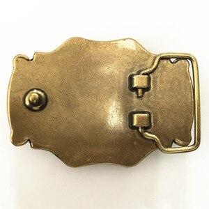 Image 4 - Pure Copper Shiny Vintage Antique Belt Buckle Brass & Jade Western Cowboy Mens Fashion Fine Accessory