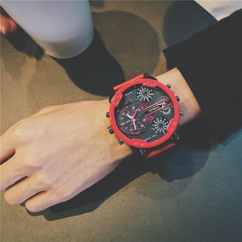 European Style Fashion Large Dial Retro Quartz Watch Strap Men's Clock 8259 Couples Watch Man And Ladies  Date Men Role Sport