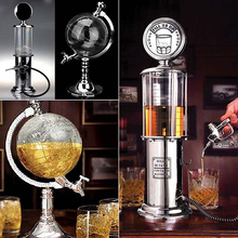 Globe Style Novelty Fill Up Gas Pump Bar Drinking Alcohol Liquor Dispenser