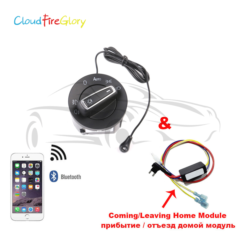 CloudFireGlory AUTO Headlight Switch Light Sensor C L Home Module Bluetooth For VW Golf Jetta 5