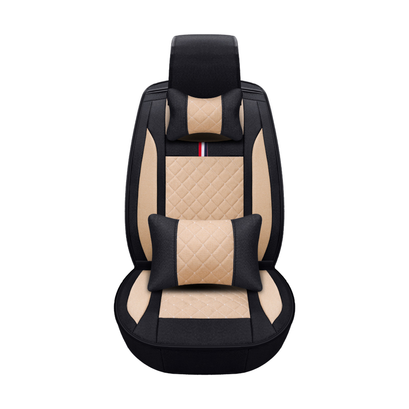 Черный Розовый Коричневый Бежевый подушки волокна конопли Чехол автокресла четыре сезона для Audi A1 A3 A4 A6 A7 B8 b7 B6 B5 C6 C7 A8 A8L Q3 Q5 Q7