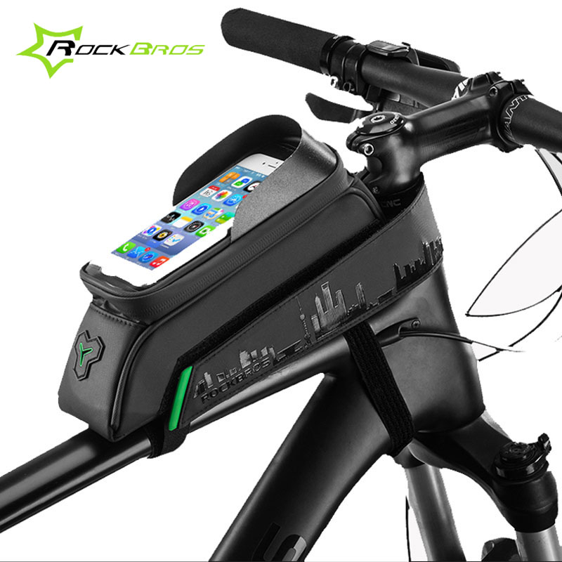 Waterproof Cycling Bag Bike Front Frame Pannier Tube Bag For Mobile Phones