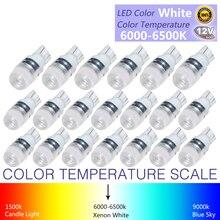 20 шт. высокое Мощность T10 светодиодный супер яркий свет белый 1,5 Вт W5W 194 192 168 DC 12 В авто автомобильные лампы для чтения свет лампы