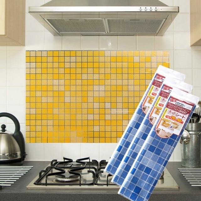 Grid Mosaic Bathroom Waterproof Self Adhesive Ceramic Tile Wallpaper Kitchen Heat Resistant Oil Proof Wall