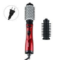 2 em 1 secador de cabelo volumizer alisamento curling blower 110 v eua plug escova rolo cerâmica styler pente ferramenta beleza Secadores de cabelo     -