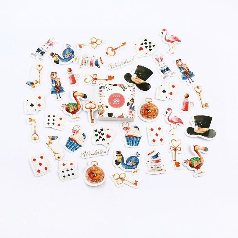 Mr. Бумаги 40 шт./кор. конфеты сказки деко наклейки для дневника Скрапбукинг планировщик японский Kawaii Декоративные Канцелярские наклейки - Цвет: H