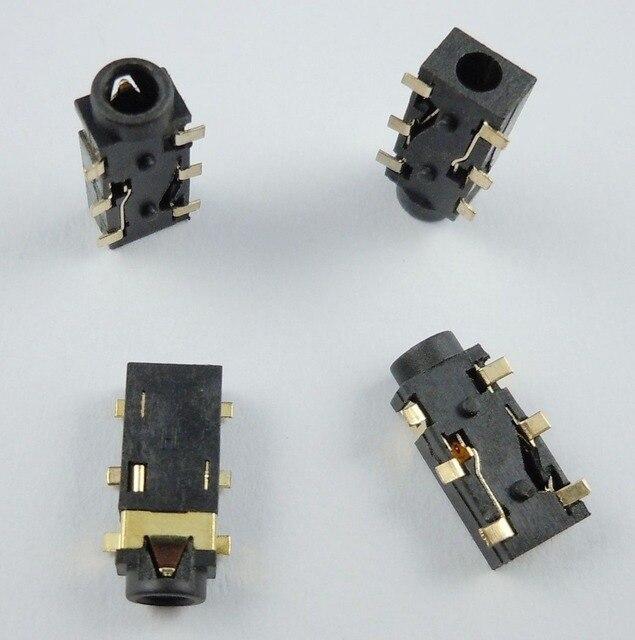 10Pcs 2.5mm Female Audio Connector 6 Pin SMT Stereo Phone Jack PCB PJ242