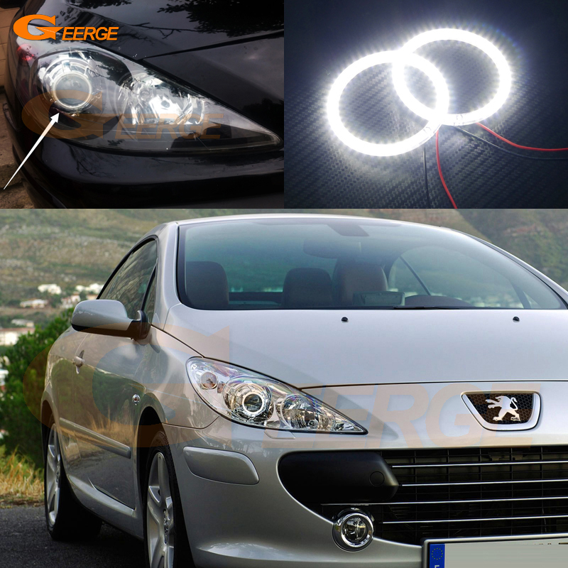 For Peugeot 307 2006 2007 2008 2009 2010 2011 2012 Excellent led Angel Eyes Ultra bright smd led Angel Eyes Halo Ring kit осциллограф hantek 6022be usb storag 2channels 20 48msa s