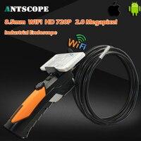 HD720P IR Handheld Wifi Endoscope Camera Monitor Waterproof Snake Car Inspection Tube Borescope Camera 2MP IOS