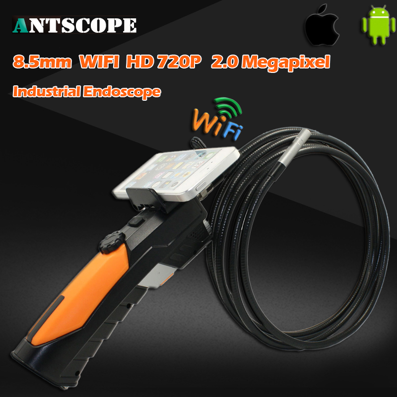 HD720P IR Handheld Wifi Endoscope Camera Monitor Waterproof Snake Car Inspection Tube Borescope Camera 2MP IOS Android Phone Cam supereyes 3 5 monitor waterproof borescope videoscope 9mm diameter 800mm snake tube endoscope camera with led inspection n012j