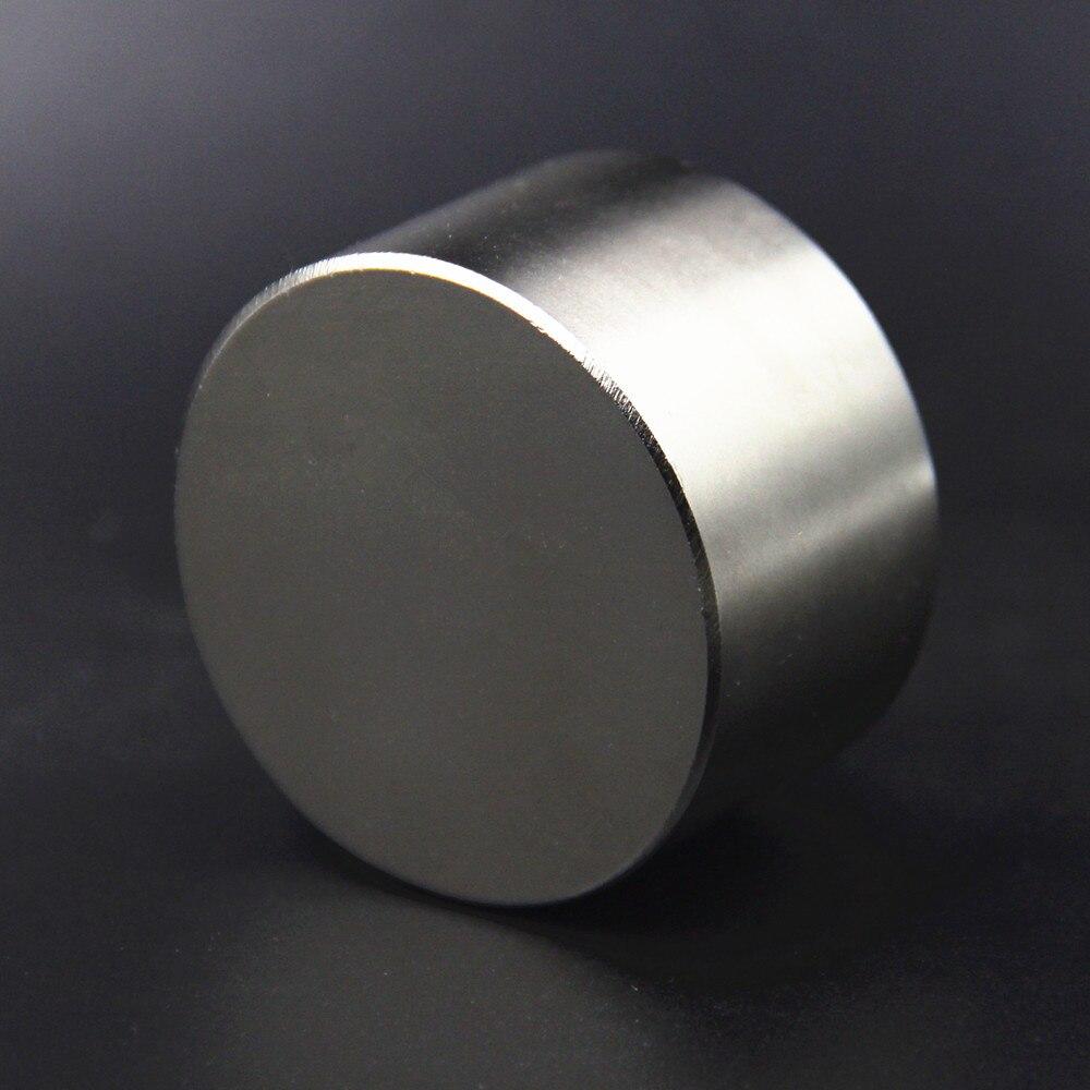 1pcs Strong Rodada Dia 50mm x 30mm N52 N40 N35 Frigorífico Rare Earth Ímã de Neodímio Ofício Da Arte 50x30mm