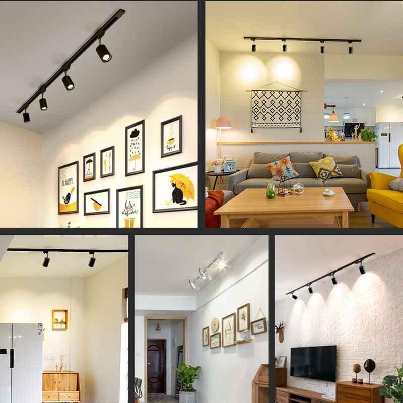 COB Led Track Light Rail Spotlights Ceiling Lamp Black Track Lighting 12W 20W 30W Aluminum Flexible Kitchen Art Gallery Clothes