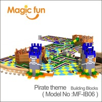 Волшебный весело парк развлечений серии большая игрушка Пластик строительные блоки парки для детей