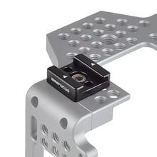 Адаптер для крепления холодного башмака, Стандартный кронштейн для холодного башмака с резьбовым отверстием 1/4 дюйма для камеры, светодиодный светильник-вспышка для монитора