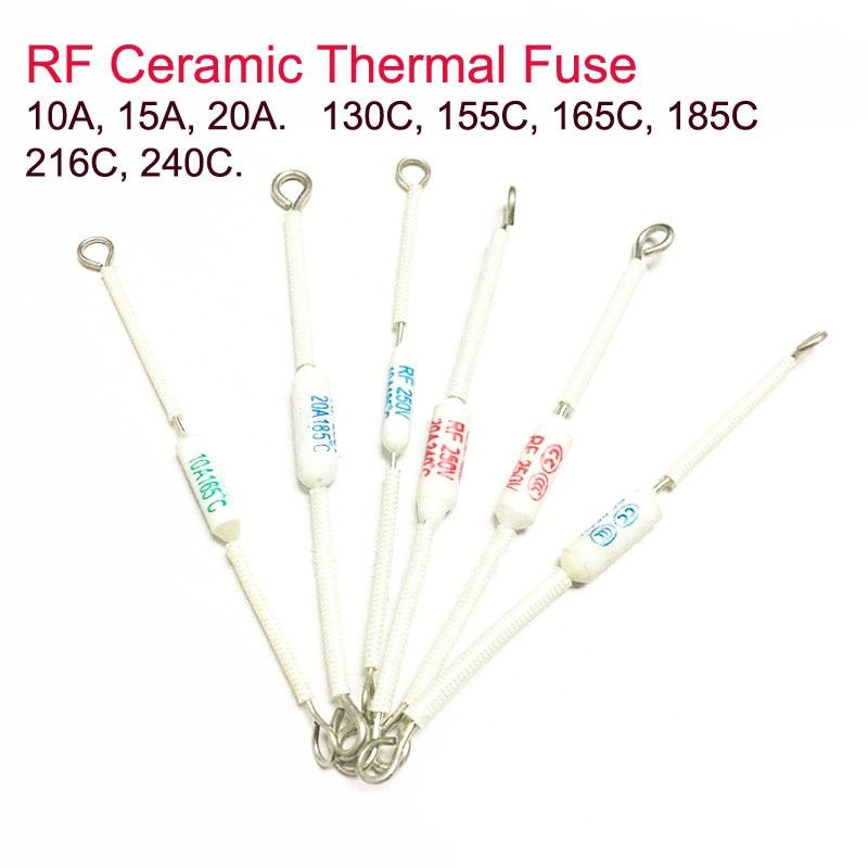 5pcs Rf Rice Cooker Ceramic Thermal Fuse Cutoff 10a  130c  155c  165c  185c 15a  20a  185c 20a  216c