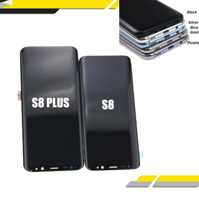 SAMSUNG S8 LCD + digitalizador de pantalla táctil para reemplazo para SAMSUNG GALAXY S8 Plus LCD pantalla negro