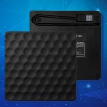 Ulra-slim USB 3.0 External CD DVD-RW Drive Rom Rewriter Burner Writer 5Gbps Date Transfer 14.8x14.2x1.8cm for Laptop Desktops