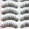 10 pares long black natural falsos cílios postiços lashes completa make up cílios vison maquiagem beauty olhos naturais