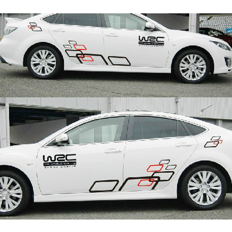 Car styling personalized wrc grid car stickers auto for Automobile decoration accessories