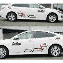 De coches de Estilo Rejilla Personalizada WRC Pegatinas de Coche Auto A Prueba de agua de Todo el Cuerpo Etiqueta Engomada Del Coche Accesorios de Decoración de Automóviles Exterior