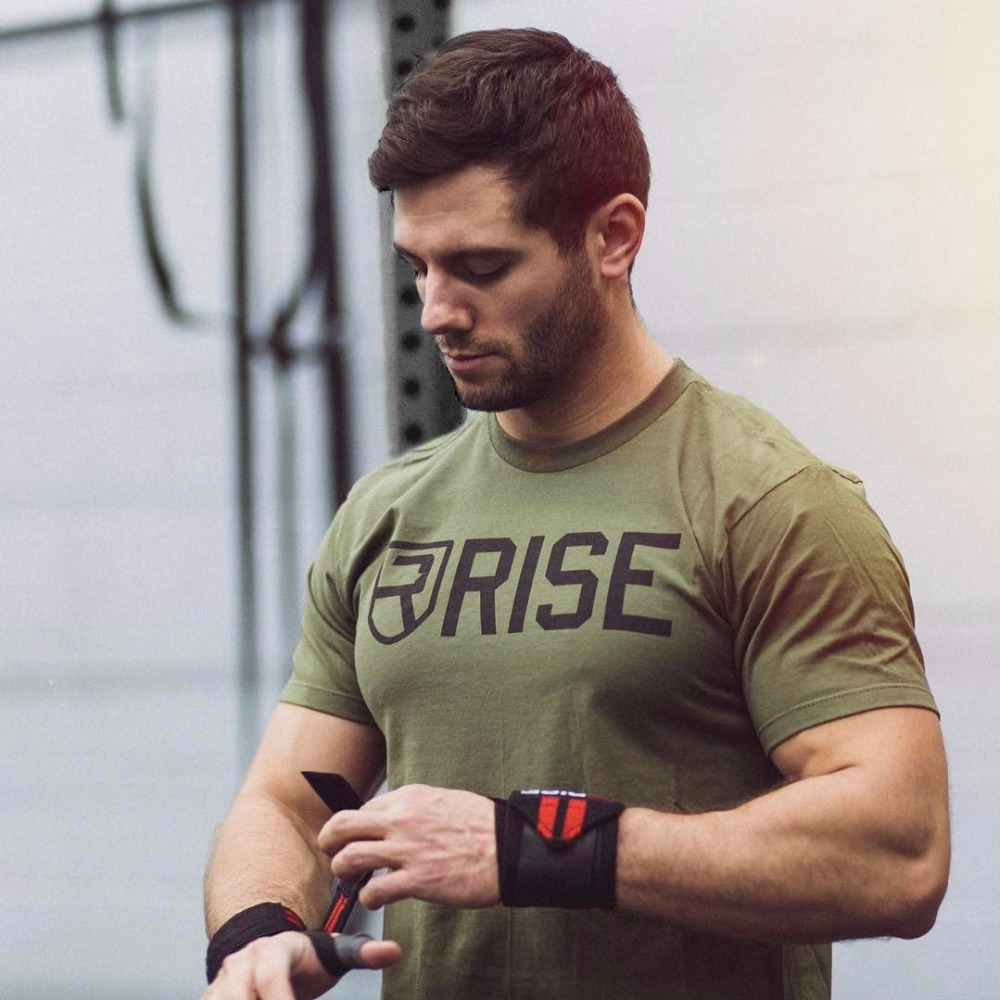 New Arrival Men Stringer RISE   T     shirt   Men Gyms Bodybuilding and Fitness Men Singlets Tank   Shirts   fitness Clothes