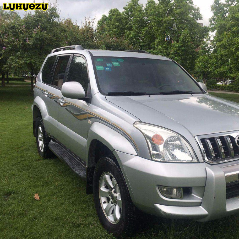Luhuezu 3M Car Body Sticker For Toyota Land Cruiser Prado LC120 2003 2009 Accessories