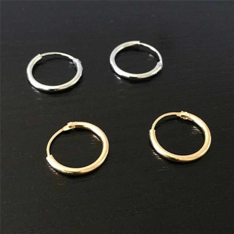 c516c972735cd Punk Gold Silver Plated Small Hoop Earrings For Women Summer Round ...